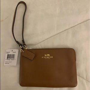 Caramel colored Coach wallet purse